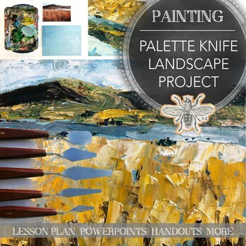 Visual Art Painting Project Palette Knife Landscape Painting High School Art