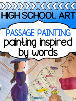 Visual Art - Painting project for high school - Passage (Words) Painting