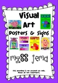 Visual Art Posters and Signs - Art Room Display with American Spelling