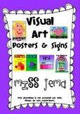 Visual Art Posters and Signs - Art Room Display with Australian Spelling