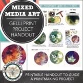 Visual Art Printable Handout: Nature Inspired Gelli Monopr