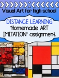 Visual Art Project for Distance Learning - ART IMITATION f