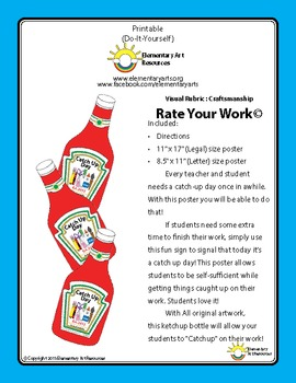 Ketchup Catch Up Day Sign or Poster When Extra Time Is Needed