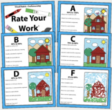 Visual Art Rubric : Rate Your Work Craftsmanship Elementary Level