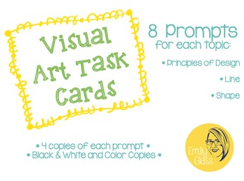 Visual Art Task Cards for Elementary