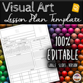 Visual Art Unit/Lesson Plan Template (Google Slides)