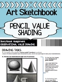 Visual Art - Value Shading with Shapes - Pencil Shading Practice