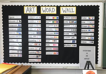 Art Word Wall with Visuals
