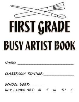 Visual Arts: 1st and 2nd Grade Sketchbook or Busy Artist Book (40 Prompts)