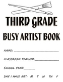 Visual Arts: 3rd, 4th and 5th Grade Sketchbook or Busy Artist Book (40 Prompts)