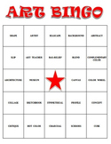Visual Arts: Art Vocabulary Bingo (DOX) (Review or Sub Pla
