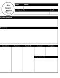 Visual Arts Blank lesson Plan Format
