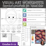 Visual Arts Classroom Essential Worksheets Bundle