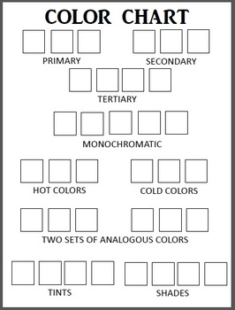 Visual Arts: Color Chart (PDF) (Elementary, Middle, High School)