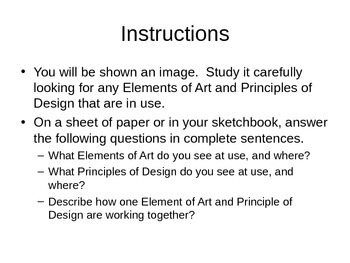 visual arts critique powerpoint presentation by smart with art