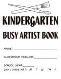 Visual Arts: Elementary (K - 5th Grades) Sketchbook or Busy Artist Book BUNDLE