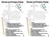 Visual Arts Elements and Principles Review Crossword (colour)
