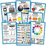 "Elements of Art Posters Art Classroom Visuals Posters Bulletin Board 18"" x 12"""
