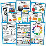 "Elements of Art Posters Art Classroom Visuals Posters Bulletin Board 18"" x 12"""