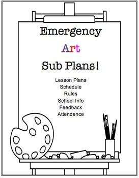 Visual Arts Emergency Substitute Lesson Plans/Resources BUNDLE!