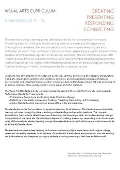 Visual Arts HS Curriculum