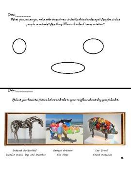 Visual Arts: Kindergarten, 1st & 2nd Grade Sketchbook or Busy Artist Book BUNDLE