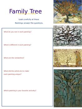 Visual Arts Lesson Plan: Family Trees