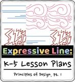 K-5 Elements of Art Lesson Plan: No-Prep Expressive Line [Weather]
