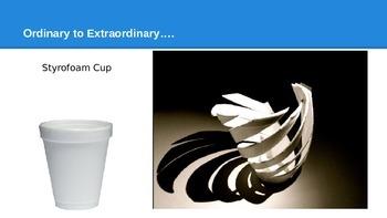 Visual Arts Lesson Using Styrofoam Cups