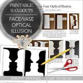 Visual Arts Printable Handout: Face Vase Optical Illusion