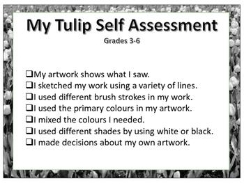 Visual Arts Tulip Painting