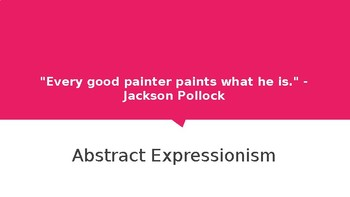 Visual Arts Unit Study: Abstract Expressionism-Identity