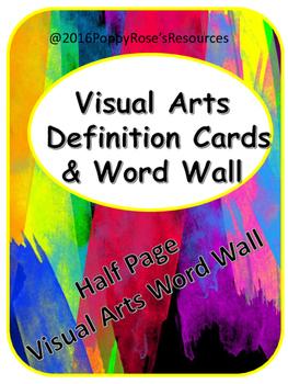 Visual Arts Word Wall