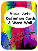 Visual Arts Word Wall