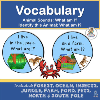 Vocabulary: What am I?  Learn about animals and their sounds!