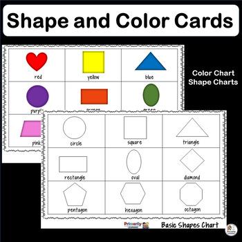 Color & Shape Cards for Preschool & Kindergarten