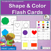 Vocabulary Activities:  Name and Identify Colors & 2D Shapes