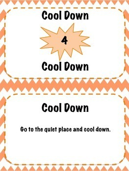 Classroom Management Visual Behavior Cards