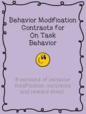 Visual Behavior Modification Contracts