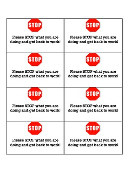 Visual Behavior Reminder Cards