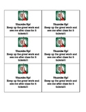Visual Behavior Reminder Cards