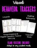 Visual Behavior Trackers - Lanyards, Data Forms, Desktop Reminders - Autism