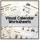 Visual Calendar Worksheets for Students with Autism or Spe