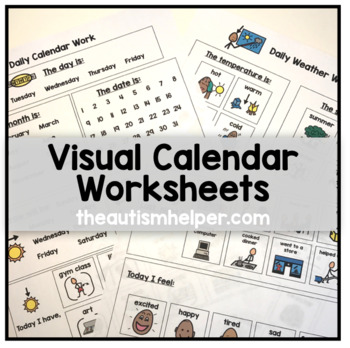 Visual Calendar Worksheets for Students with... by The Autism ...