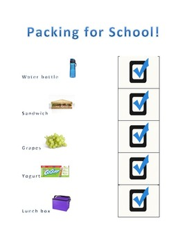 Visual Checklist: Packing for School
