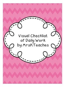 Visual Checklist for Completed Work