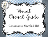 Visual Choral Guide for Vowels & IPA Wall {Grey & Blue}