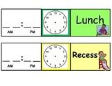 Visual Class Schedule Cards