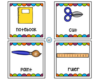Visual Classroom Activity Direction Cards