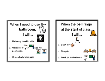 Visual Classroom Procedures for Students